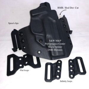 "S&W M&P performance Center shield 4""holster rmr red dot glock 26 holster glockg26 holster g26"